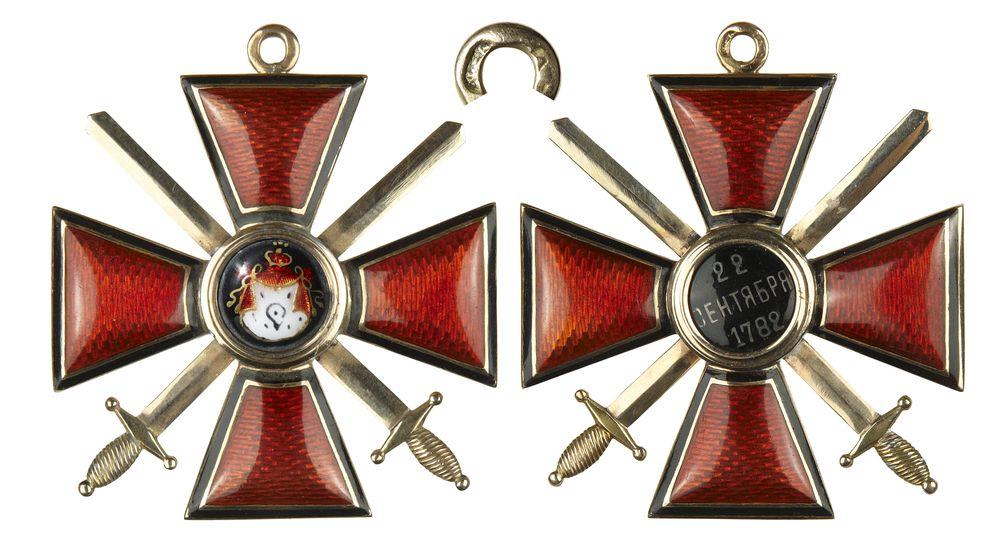 орден святого владимира с мечами учетные формы: